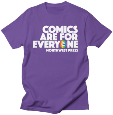 Comics are for Everyone logo shirt